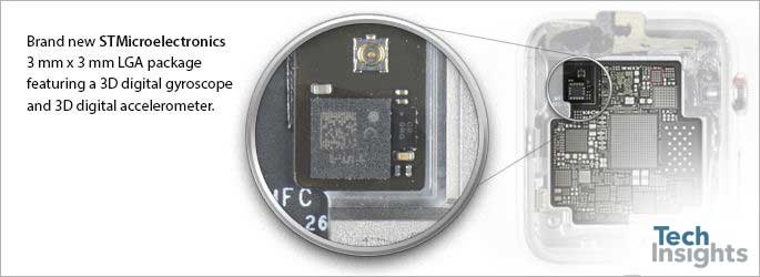 STMicroelectronics gyroscope and accelerometer