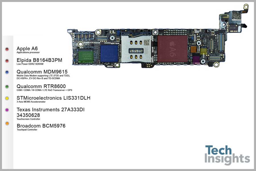 Apple iPhone 5 Board Shot