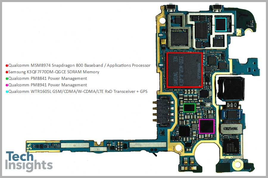 Samsung Galaxy Note 3 Board Shot