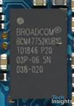 Broadcom BCM47752 GNSS Receiver with Integrated Sensor Hub