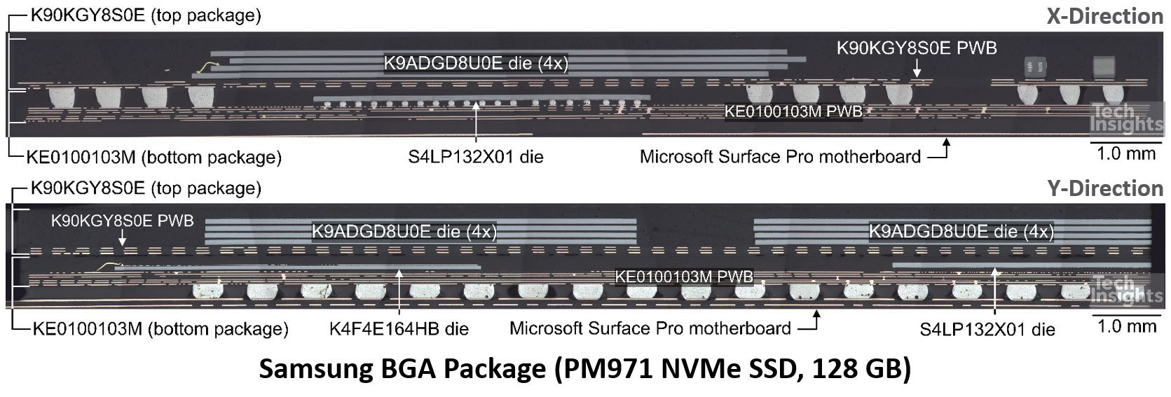 Samsung BGA Package (PM971 NVMe SSD, 128 GB)