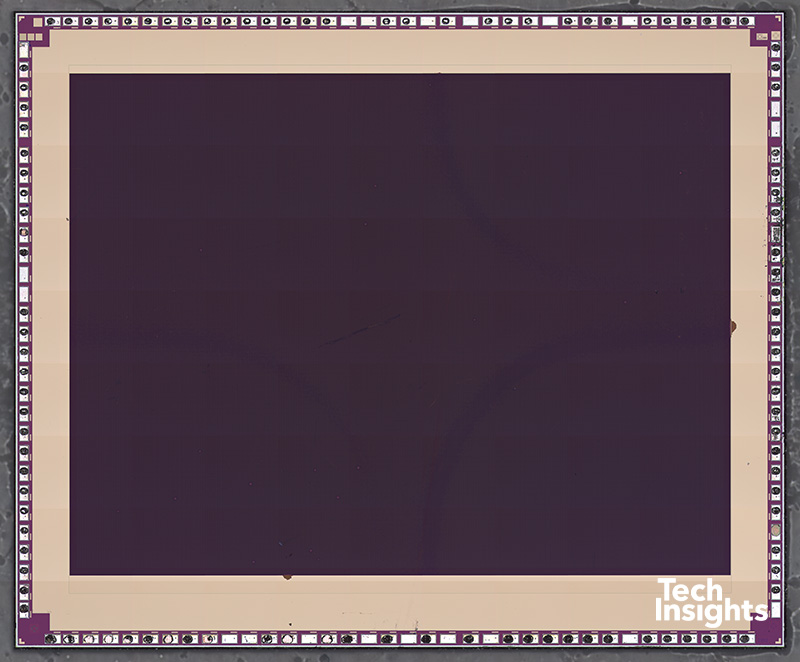 12 MP Rear-Facing Wide-Angle Camera Image Sensor Die Photo (Filters Removed)