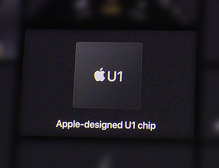 the Apple U1 UWB chip