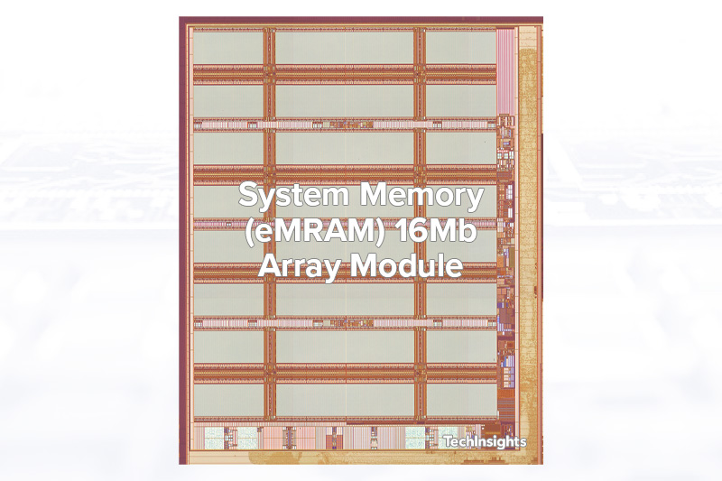 A 16Mb eMRAM array module with TSMC 22ULL process on Ambiq Apollo-4 Blue MCU die