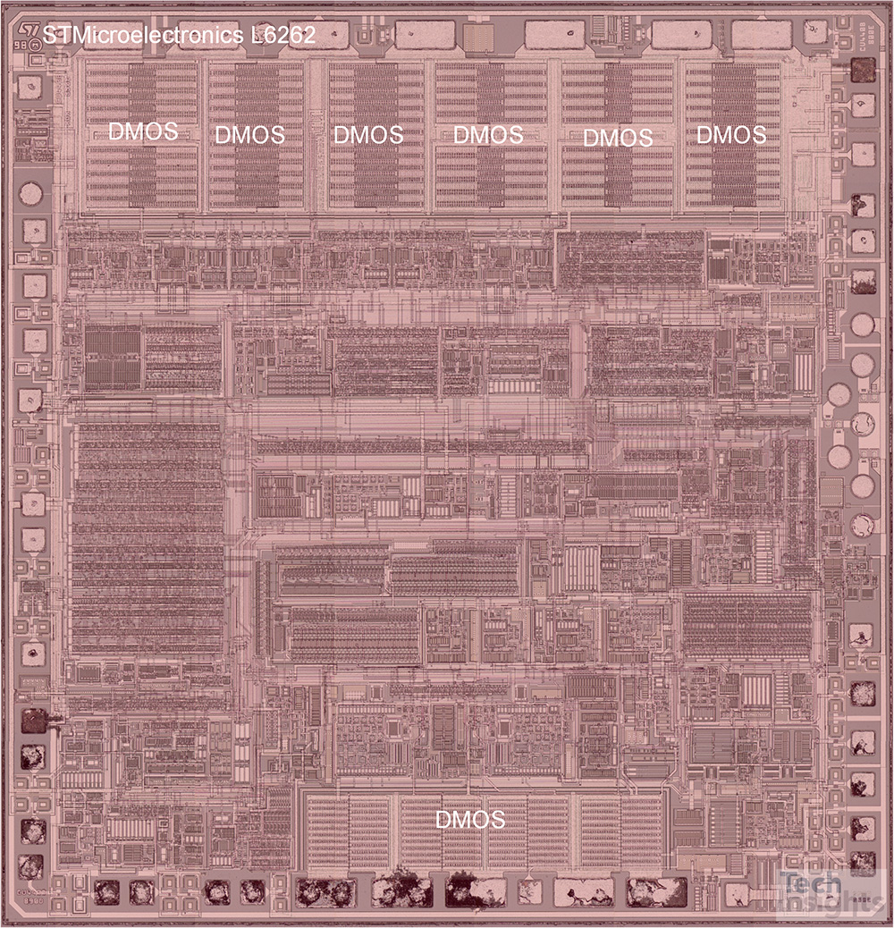 STMicroelectronics L6262S BCD Process Die Photograph