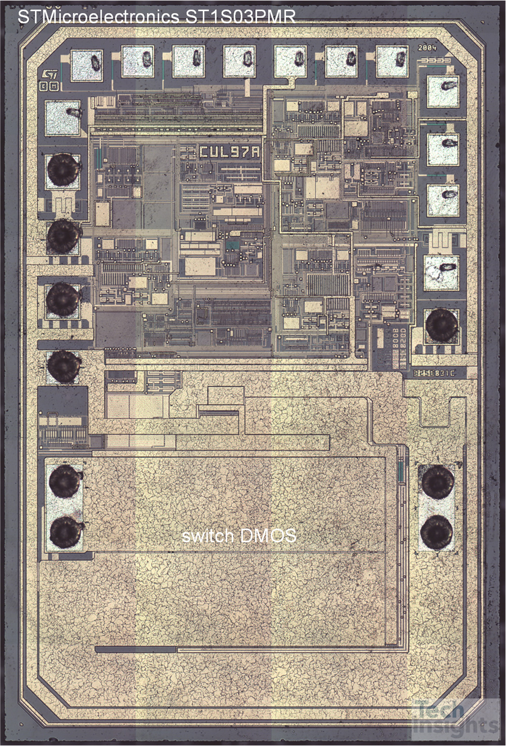 STMicroelectronics ST1S03 BCD6 Process Die Photograph