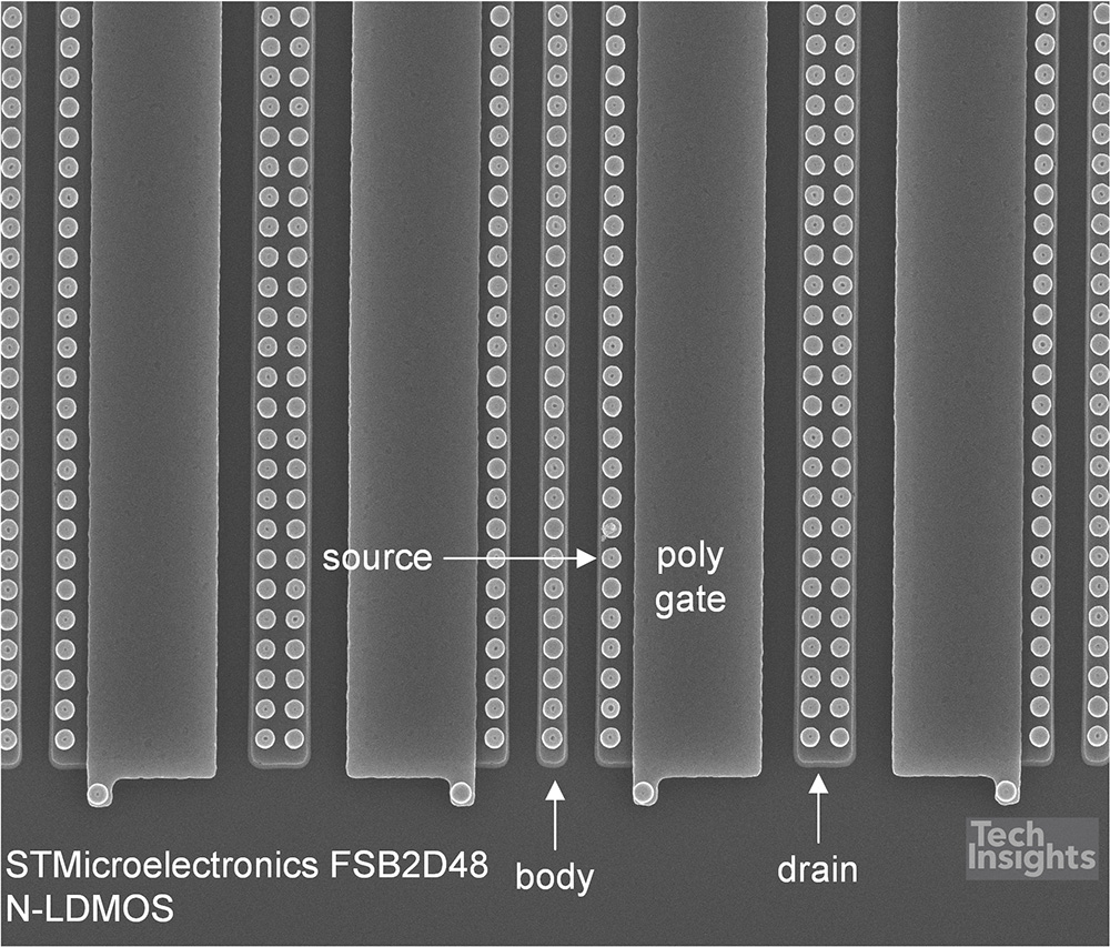 STMicroelectronics FSB2D48 N-LDMOS Layout