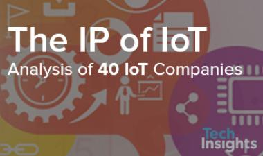 Samsung tops an updated TechInsights analysis of the IP of IoT