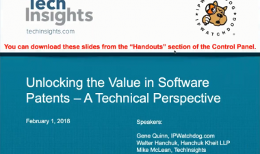 Unlocking the Value in Software Patents - a Technical Perspective